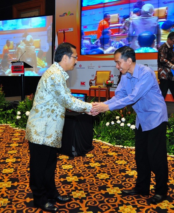 Joko Setyanto dengan Joko Widodo