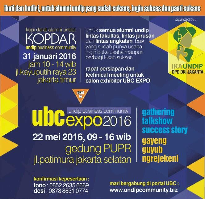 """""""Gayeng Guyub nGerejekeni"""", Ayo Alumni UNDIP Kumpul di UBC Expo"""