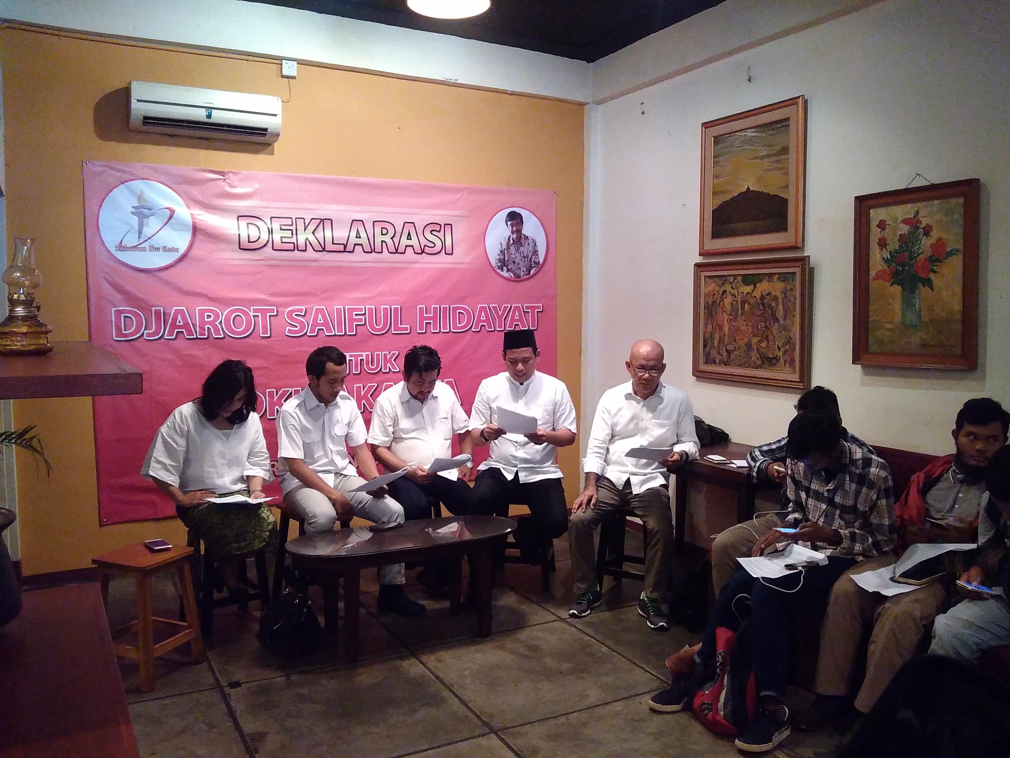 Relawan Ibukota: Mari Bersama Djarot Mewujudkan Jakarta Lebih Baik