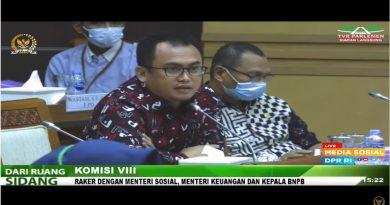 Anggota DPR RI Dapil Sulbar Arwan Aras Pertanyakan Penyaluran Dana Tunggu Hunian (DTH) Gempa Sulbar Kepada Kepala BNPB