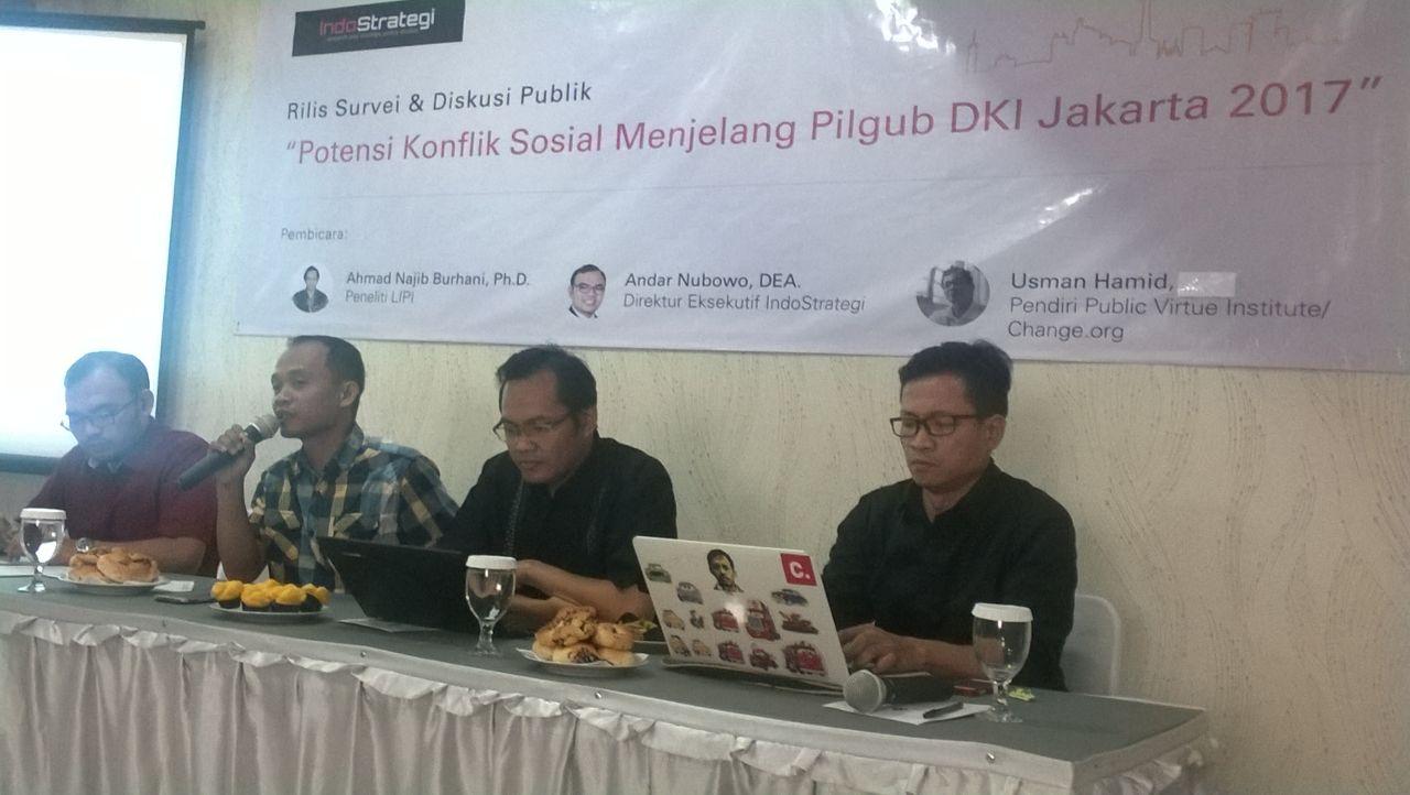 IndoStrategi Ungkap Potensi Konflik Sosial Pilkada 2017