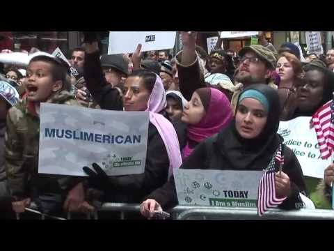 """Rally """"Today I am a Muslim too"""" di NYC"""